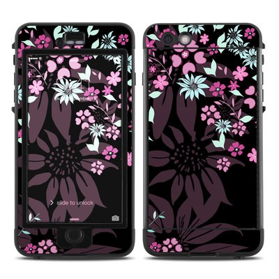 Lifeproof iPhone 6 Plus Nuud Case Skin - Dark Flowers
