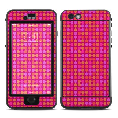 Lifeproof iPhone 6 Plus Nuud Case Skin - Dots Pink