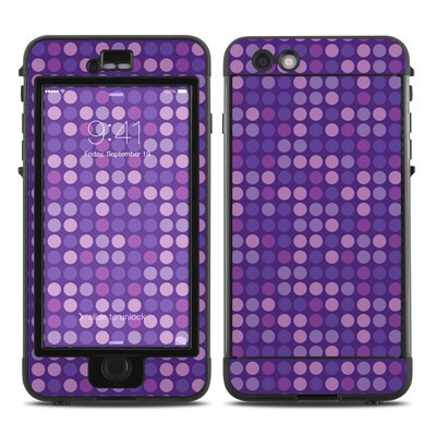 Lifeproof iPhone 6 Plus Nuud Case Skin - Dots Purple