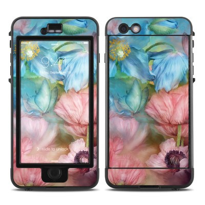 Lifeproof iPhone 6 Plus Nuud Case Skin - Poppy Garden