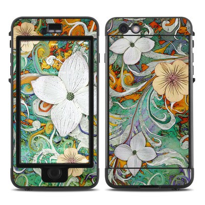 Lifeproof iPhone 6 Plus Nuud Case Skin - Sangria Flora