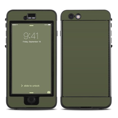 Lifeproof iPhone 6 Plus Nuud Case Skin - Solid State Olive Drab