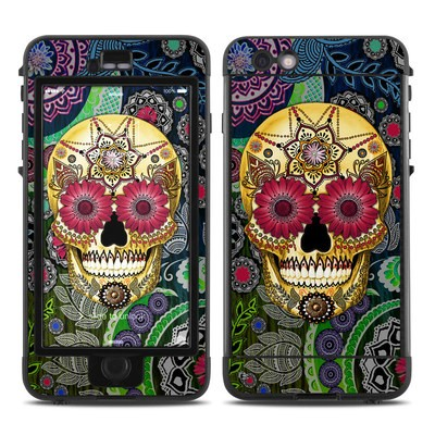 Lifeproof iPhone 6 Plus Nuud Case Skin - Sugar Skull Paisley