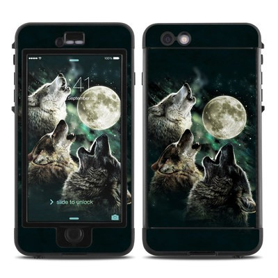 Lifeproof iPhone 6 Plus Nuud Case Skin - Three Wolf Moon