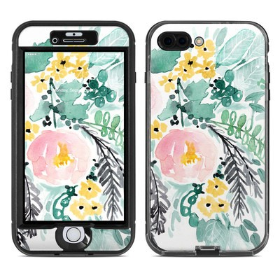 Lifeproof iPhone 7 Plus Nuud Case Skin - Blushed Flowers