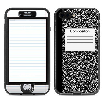 Lifeproof iPhone 7 Plus Nuud Case Skin - Composition Notebook