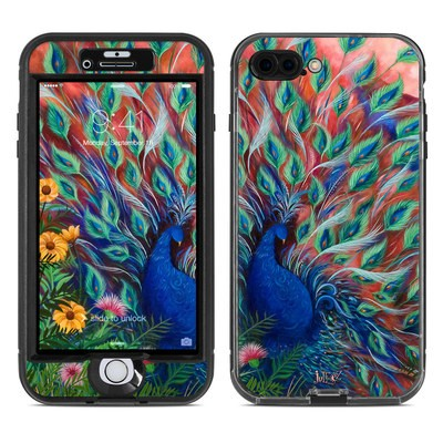 Lifeproof iPhone 7 Plus Nuud Case Skin - Coral Peacock