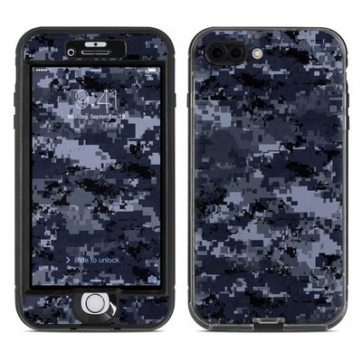 Lifeproof iPhone 7 Plus Nuud Case Skin - Digital Navy Camo