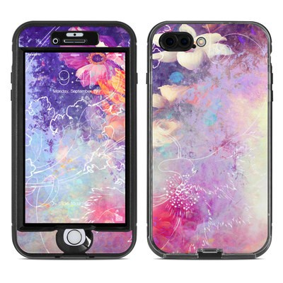 Lifeproof iPhone 7 Plus Nuud Case Skin - Sketch Flowers Lily