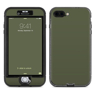 Lifeproof iPhone 7 Plus Nuud Case Skin - Solid State Olive Drab