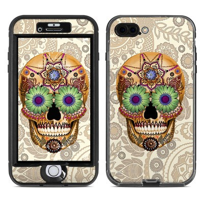 Lifeproof iPhone 7 Plus Nuud Case Skin - Sugar Skull Bone