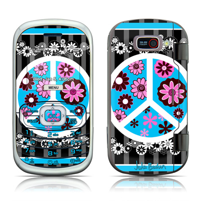 LG Octane Skin - Peace Flowers Black