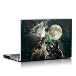Laptop Skin - Three Wolf Moon
