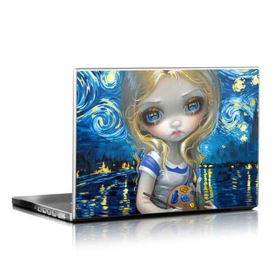 Laptop Skin - Alice in a Van Gogh