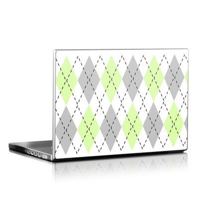 Laptop Skin - Mint Argyle
