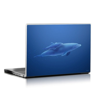 Laptop Skin - Blue Dolphins