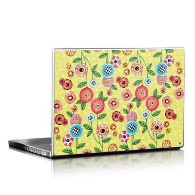 Laptop Skin - Button Flowers