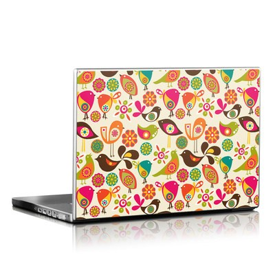 Laptop Skin - Bird Flowers