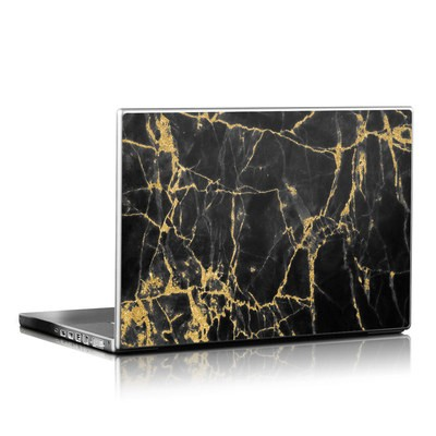 Laptop Skin - Black Gold Marble