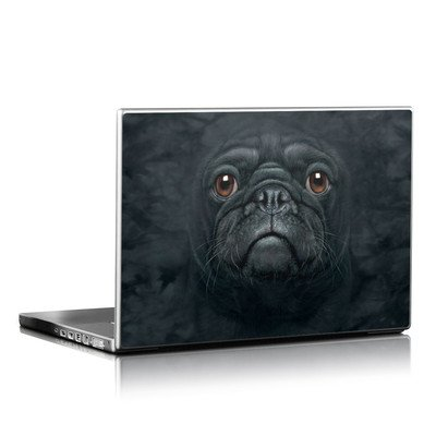Laptop Skin - Black Pug