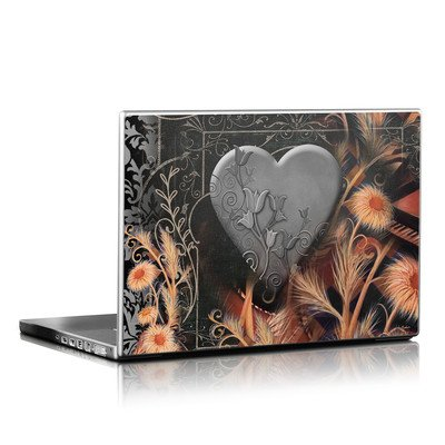 Laptop Skin - Black Lace Flower