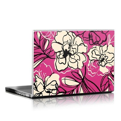 Laptop Skin - Black Lily