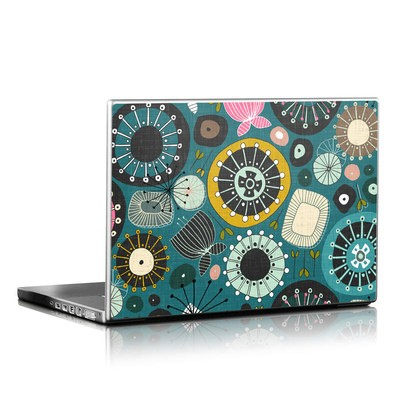 Laptop Skin - Blooms Teal