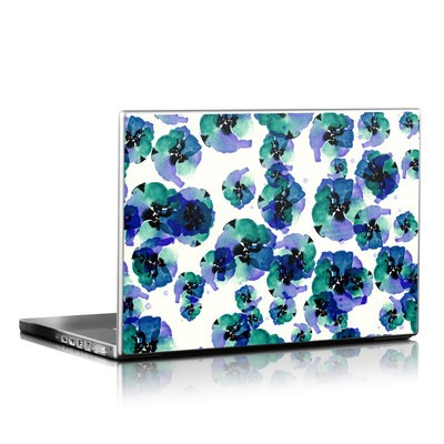 Laptop Skin - Blue Eye Flowers