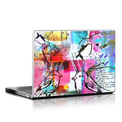 Laptop Skin - Book Birds