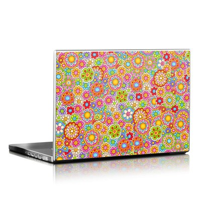 Laptop Skin - Bright Ditzy