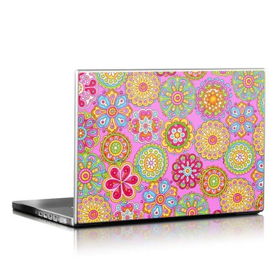 Laptop Skin - Bright Flowers