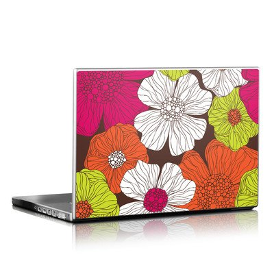 Laptop Skin - Brown Flowers
