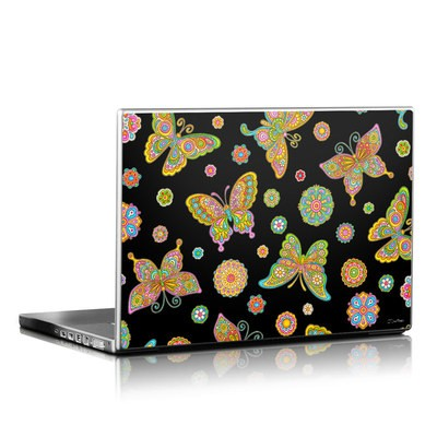 Laptop Skin - Butterfly Flowers