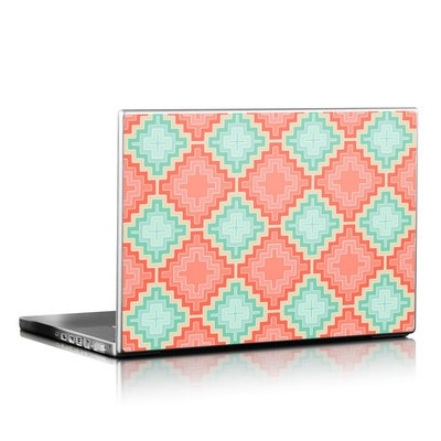Laptop Skin - Coral Diamond