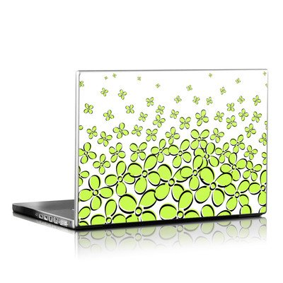 Laptop Skin - Daisy Field - Green