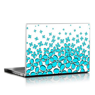 Laptop Skin - Daisy Field - Teal