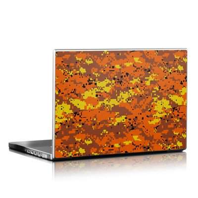 Laptop Skin - Digital Orange Camo