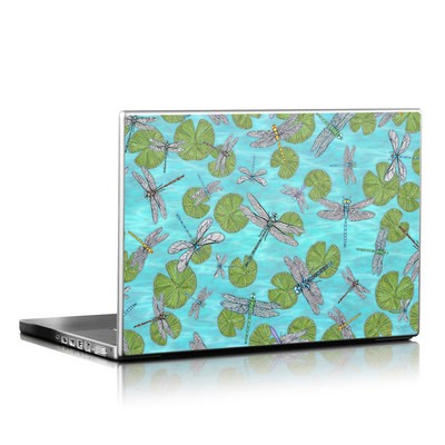 Laptop Skin - Dragonflies Over Pond