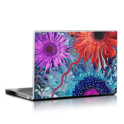Laptop Skin - Deep Water Daisy Dance