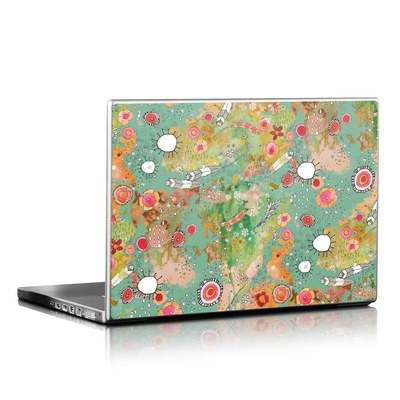 Laptop Skin - Feathers Flowers Showers