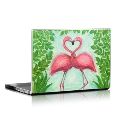 Laptop Skin - Flamingo Love