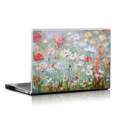 Laptop skin flower blooms