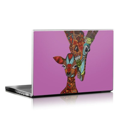 Laptop Skin - Giraffe Love