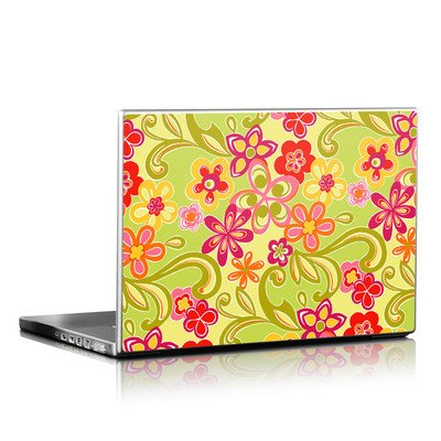 Laptop Skin - Hippie Flowers Hot Pink