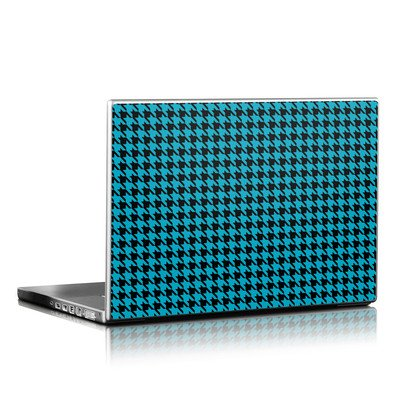 Laptop Skin - Teal Houndstooth