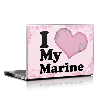 Laptop Skin - I Love My Marine