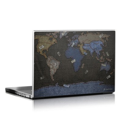 Laptop Skin - Jean Map