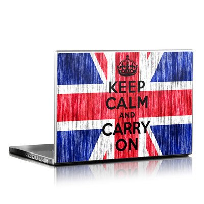 Laptop Skin - Keep Calm - Grunge
