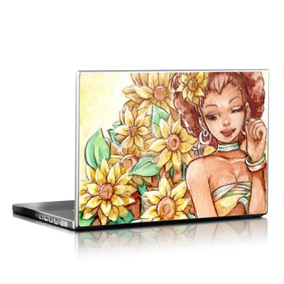 Laptop Skin - Lady Sunflower