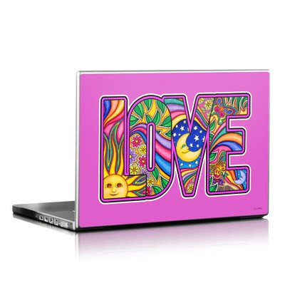 Laptop Skin - Love Text
